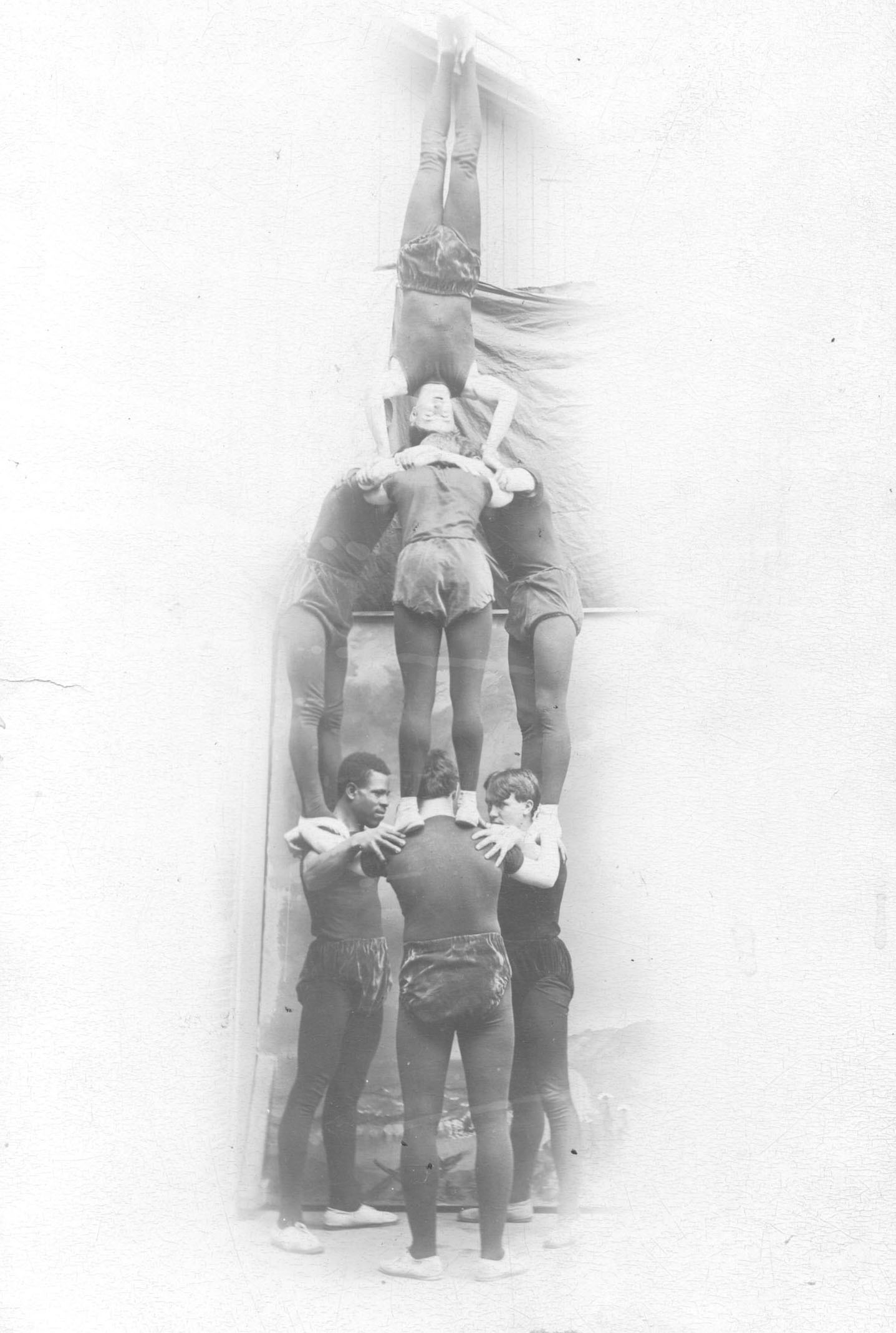 Gymnastics pyramid · Bates College Muskie Archives Photo Collections