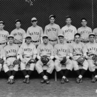 Baseball team picture in Gray Athletic Building